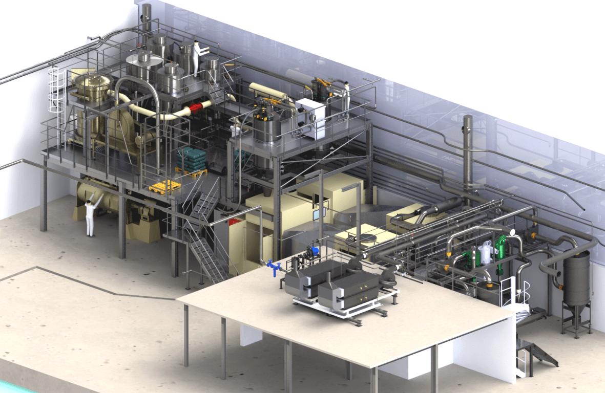 1- Vue 3D - implantation ligne production