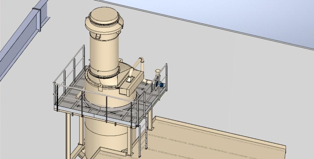Passerelle maintenace silos