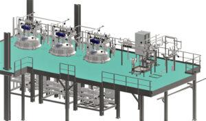 Construc. hall de fabrication produits d'hygiènes<br>APS/APD/suivi de réalisation