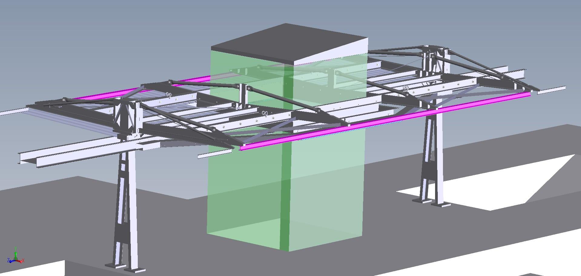 Abris de quai de gare intégrant un ascenseur<br>Conception/dimensionnement/dossier d'exé