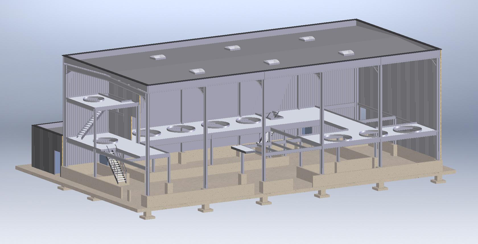 Construc. bâtiment industriel et plateformes<br>Pré-imesionnnement/consultations