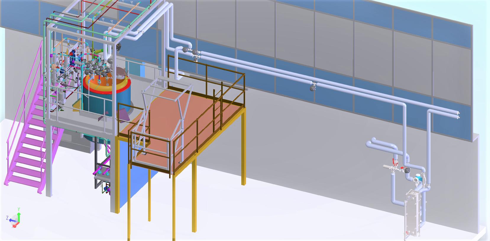 Modification boucle eau purifiée<br>Implantation/définition échangeur/dossier d'exé