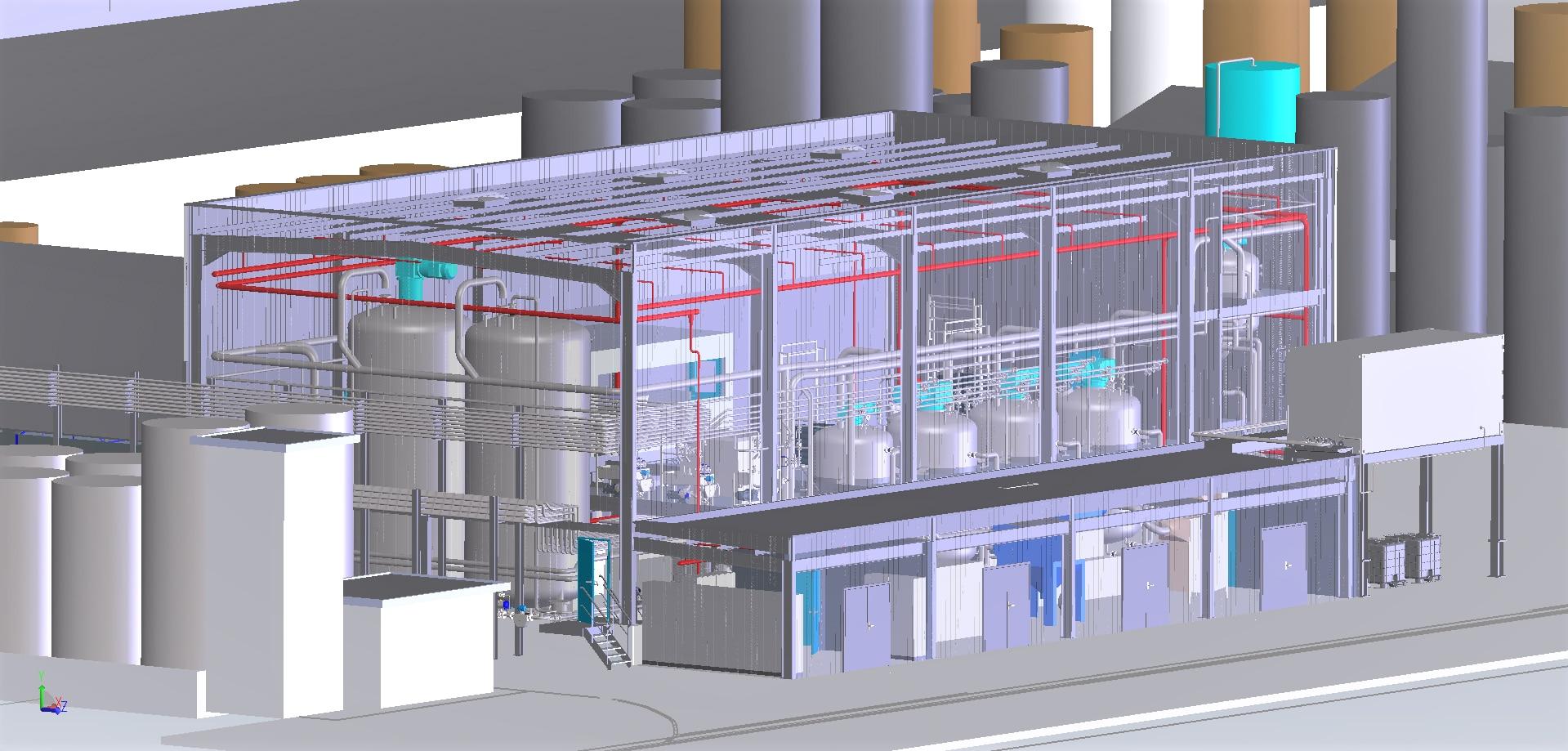 Construction unité production produits chimiques<br>APS/APD/consultations