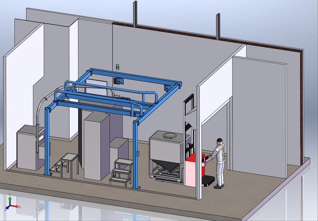 Structure porte container roulant<br>Conception/dimensionnement/dossier d'exé