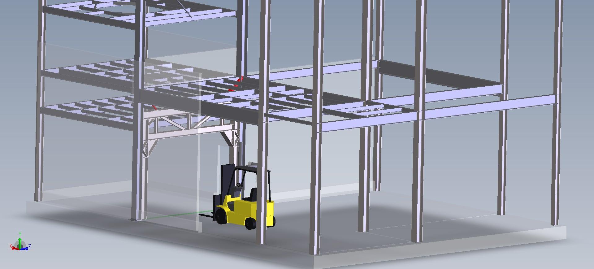 Création ouverture dans bâtiment pour circulation<br>APD/calculs/maitrîse d'œuvre
