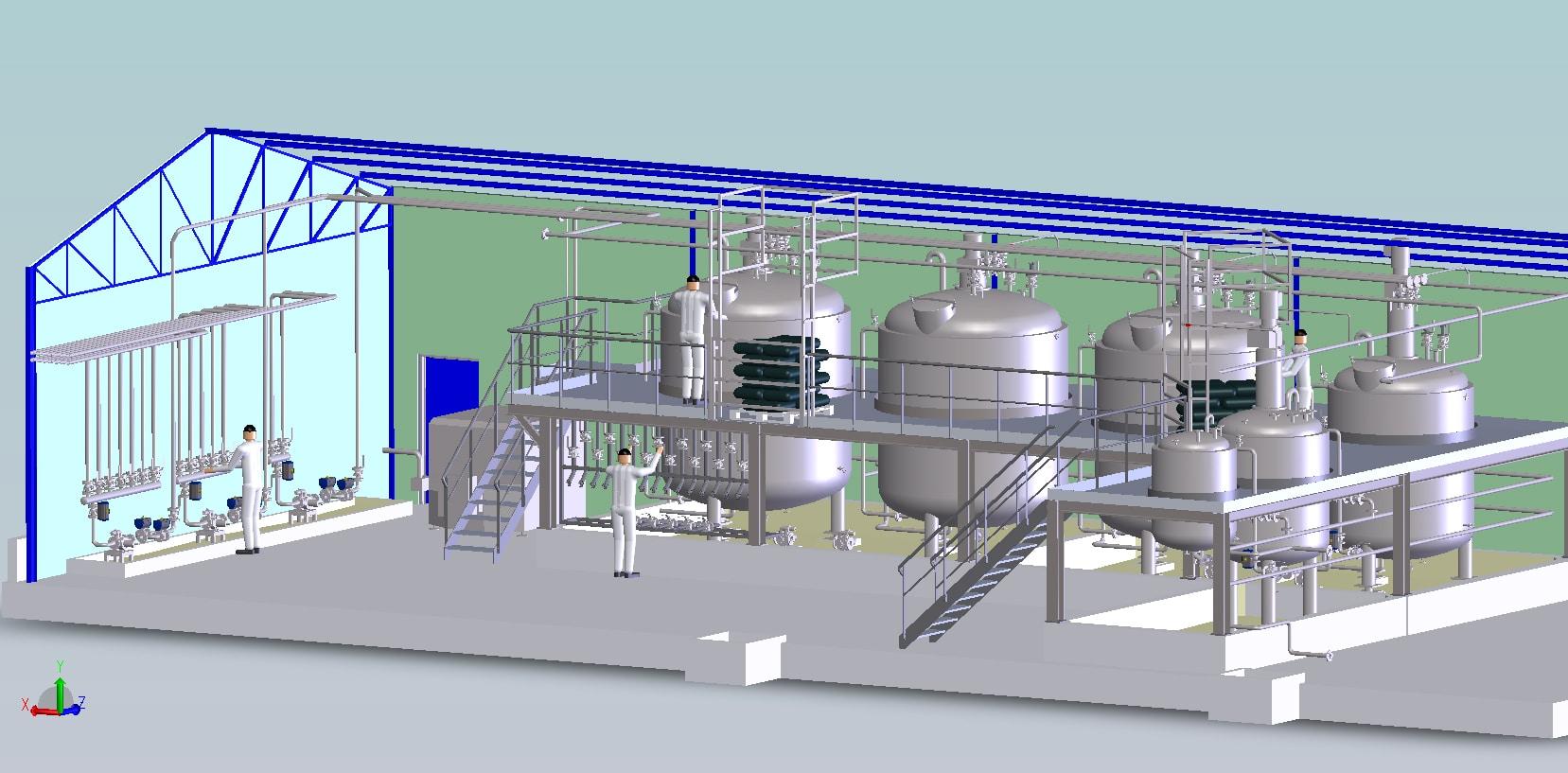 Construc. unité de production produits chimiques<br>APD/consultations/coordination technique