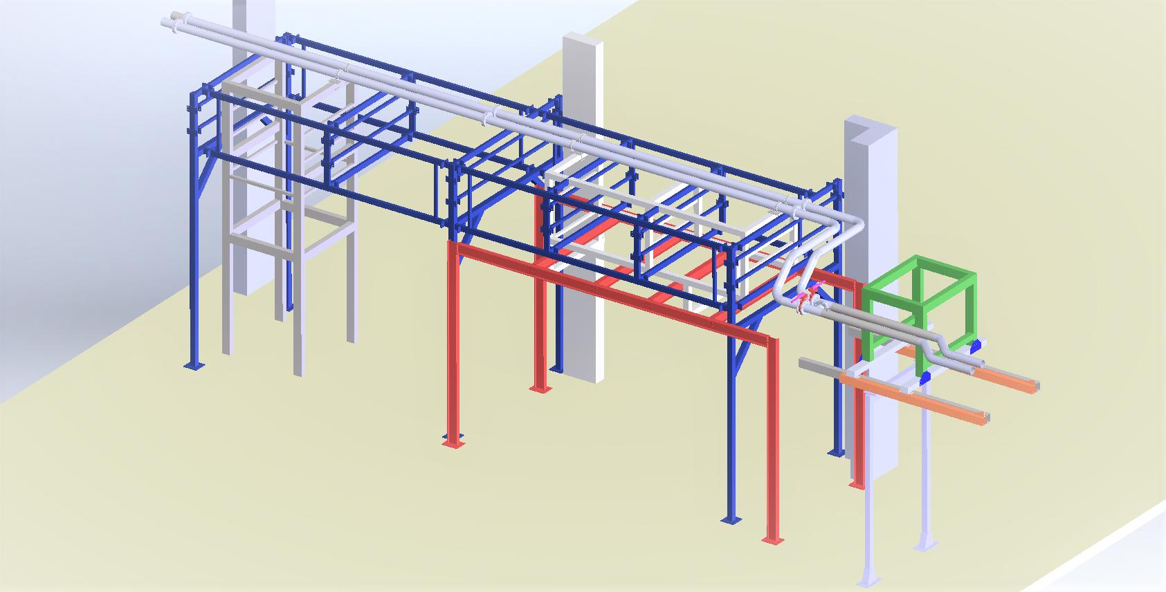 Modification rack de support tuyauteries<br>Définition/dimensionnement