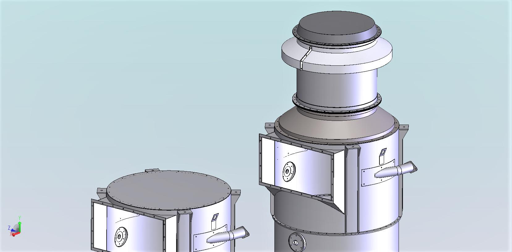 Intégration évents explosion sur dessus de silos<br>Définition/ calcul / dossier de construction